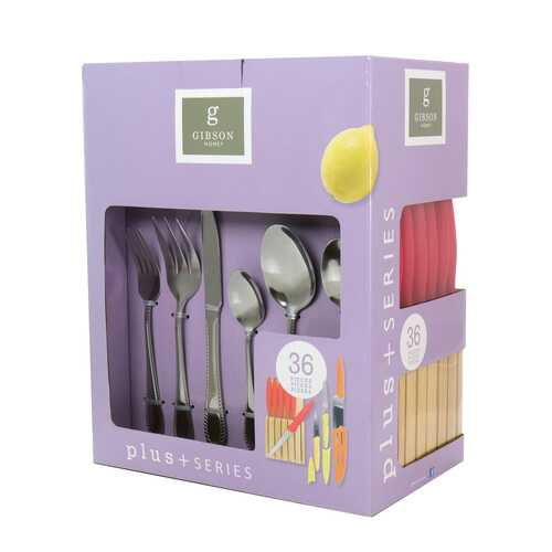 Gibson Home Plus Series 36 Piece Flatware Set with Knife Set