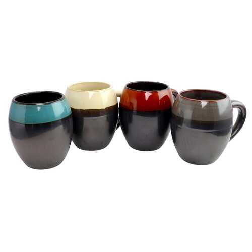 Gibson Home Soroca 4 Piece 19.5 oz Mug Set in Assorted Colors