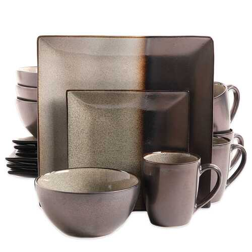 Kaidence 16-Piece Dinnerware Set in Brown