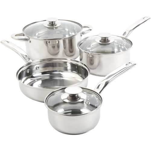 Sunbeam Ansonville 7-Piece Stainless Steel Cookware Set