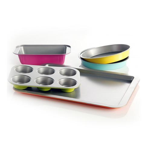 Gibson Home Color Splash Lyneham 5 pc Carbon Steel Bakeware Set