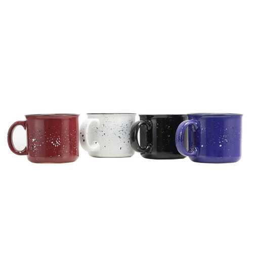 Gibson Home Altaic 4 Piece 17 Ounce Stoneware Speckle Glaze Mug Set