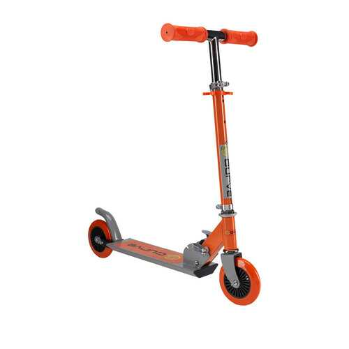 Curve Light Up Wheels Folding Scooter in Orange