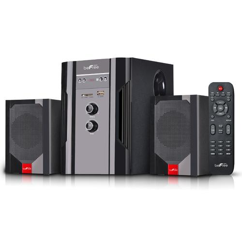 beFree Sound 2.1 Channel Bluetooth Surround Sound Speaker System in Black