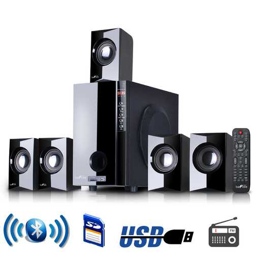 beFree Sound 5.1 Channel Surround Sound Bluetoot Speaker System