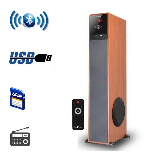 beFree Sound Bluetooth  Tower Speaker - Wood