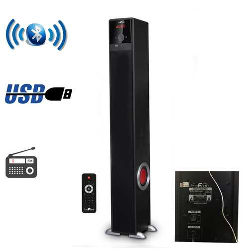 beFree Sound Bluetooth Powered Tower Speaker