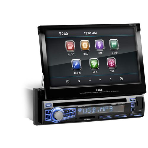 "Boss Audio Single Din 7"" Motorized Touchscreen Monitor"