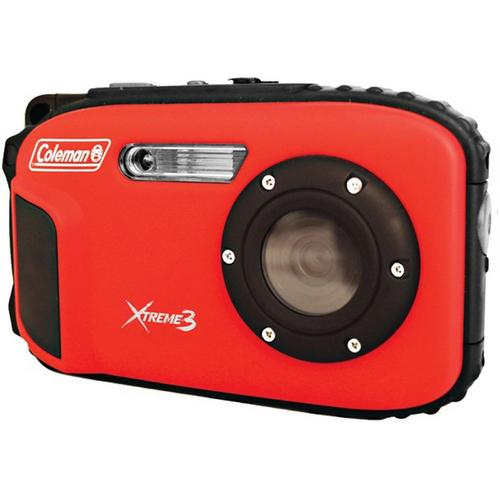 Coleman 20.0 MP/HD Waterproof Digital Camera-Red