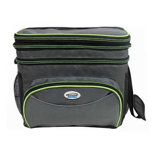 Cooler Bag 12 Can w/ Hard Plastic Ice Bucket-GREEN