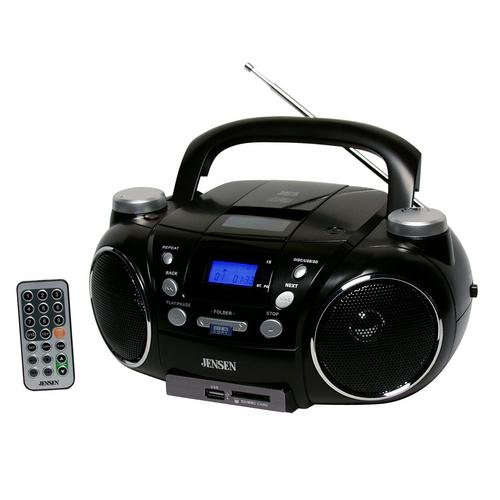 Jensen Portable AM/FM Stereo CD Player with MP3 Encoder/Player
