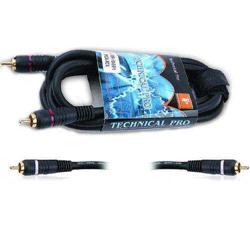 Technical Pro Dual 3' .25 in. to Dual .25 in. Audio cables
