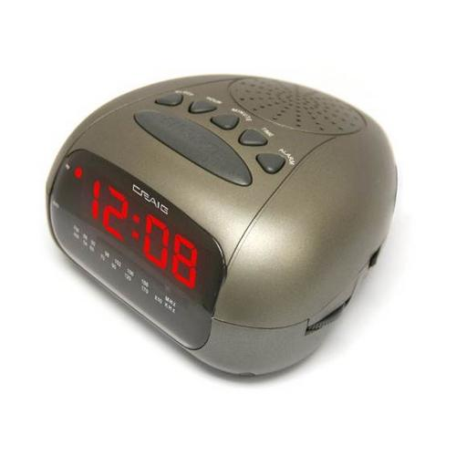 Craig Dual Alarm Clock Radio with 0.6″ LED Display