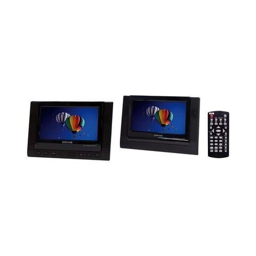 Craig 7-Inch TFT Dual Screen Portable DVD Player, Black