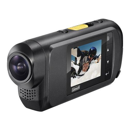 Coleman Conquest 1080i 60fps Waterproof Action Camera w/ Mounts & Waterproof Housing