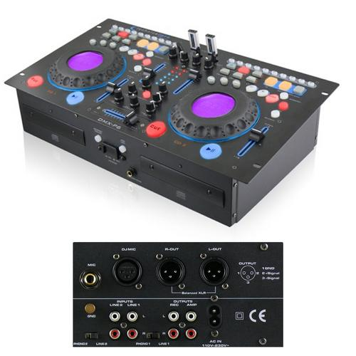 Rackmountable Double Cd Mixer with USB, Scratch & BPM