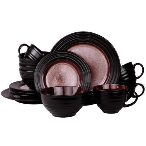 Elama's Liana 16-Piece Stoneware Dinnerware Set