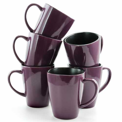 Mulberry 6 Piece Luxe and Large Dinner Mugs