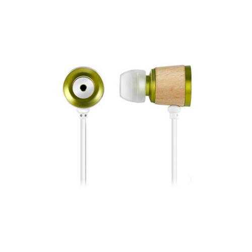 Wooden Chamber Headphones- Green