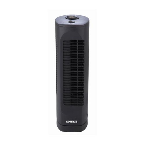 Optimus 17 in. Desktop Ultra Slim Oscillating Tower Fan-Black