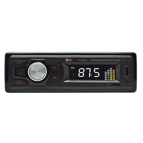 QFX AM/FM Radio MP3/USB/SD Receiver with 18 Radio Station Presets