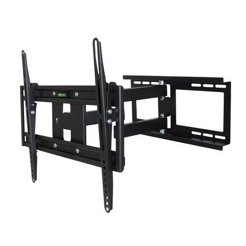 MegaMounts Full Motion Wall Mount with Bubble Level for 26 - 55 Inch LCD, LED, and Plasma Screens