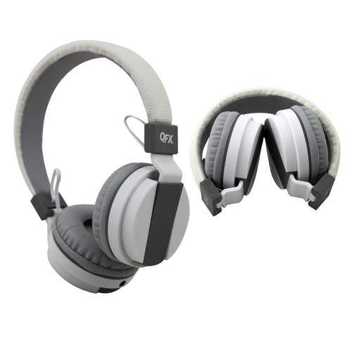 QFX Stereo Headphones with Microphone - White