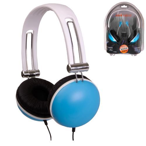 QFX Stereo Headphones Combo-BLU