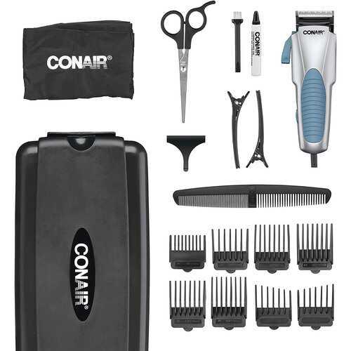 Conair Custom Cut 18 Piece Home Hair Cutting Kit with No Slip Grip