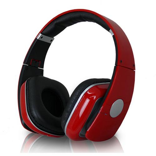 Technical Pro Adjustable Hheadband Professional Headphones- Red