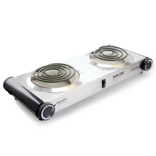 Better Chef Stainless Steel Dual Electric Burner