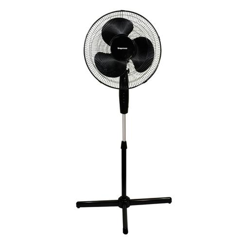 Impress Handi-Fan 16 Inch Oscillating Stand Fan- Black