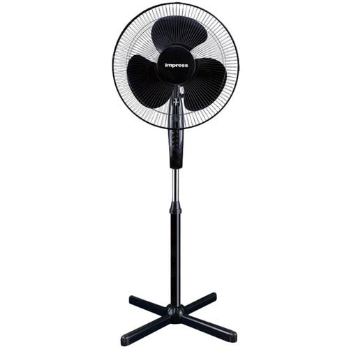 "Impress 16"" Oscillating Stand Fan (black) IM-725B"