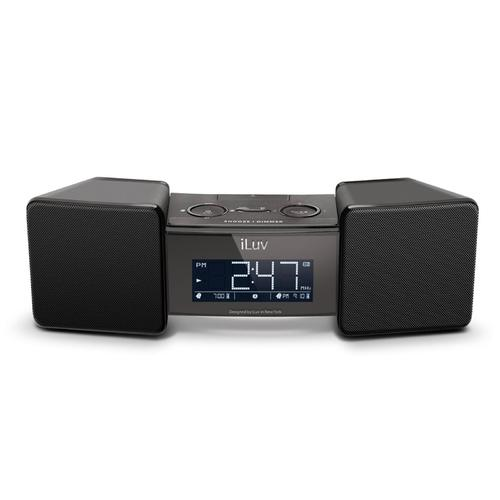 iLuv VibroBlue Bluetooth Wireless Speaker with Dual Alarm Clock and Shaker