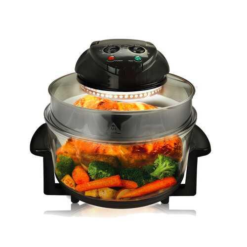 MegaChef Multipurpose Countertop Halogen Oven Air Fryer/Rotisserie/Roaster in Black