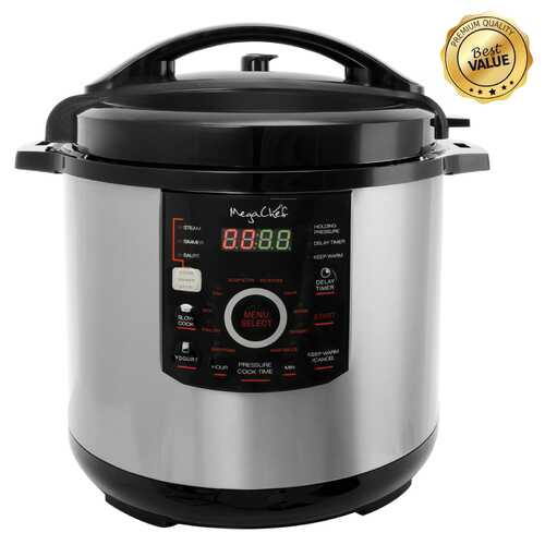 Megachef 12 Quart Digital Pressure Cooker with 15 Presets