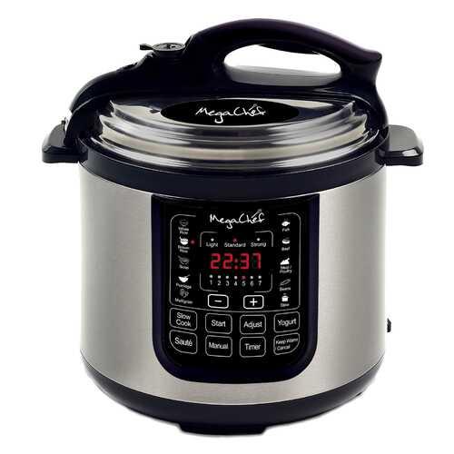 Megachef 8 Quart Digital Pressure Cooker with 13 Pre-set Multi Function Features