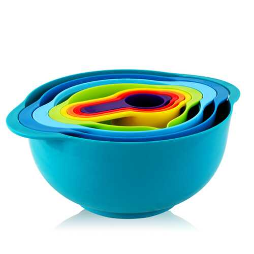MegaChef Multipurpose Stackable Mixing Bowl and Measuring Cup Set