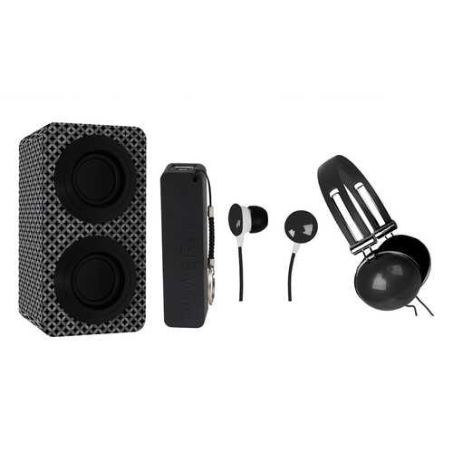 Naxa Portable Bluetooth® Stereo Speakers Entertainment Pack-Black