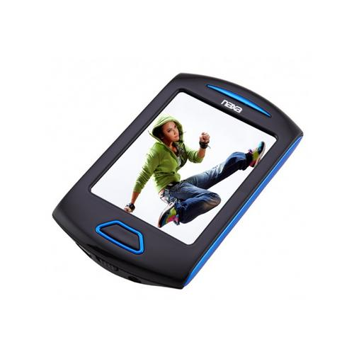 "Naxa Portable Media Player W/ 2.8"" Touch Screen, Built-In 4GB Flash Memory MP3 Player-Blue"