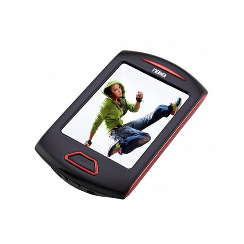 "Naxa Portable Media Player W/ 2.8"" Touch Screen, Built-In 4GB Flash Memory MP3 Player-Red"