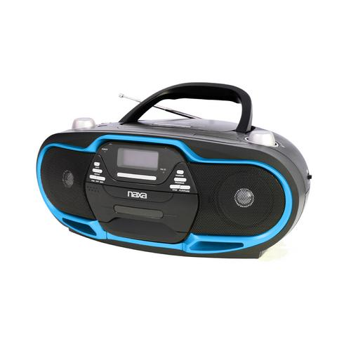 Naxa NPB-257 Portable MP3/CD Player, AM/FM Stereo Radio & USB Input- Blue