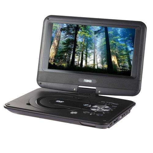 "Naxa 9"" TFT LCD Swivel Screen Portable DVD Player with USB/SD/MMC Inputs"