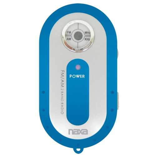 Blue AM/FM Mini Pocket Radio