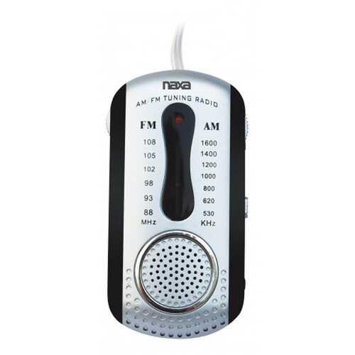 Naxa AM/FM Mini Pocket Radio with Built-In Speaker