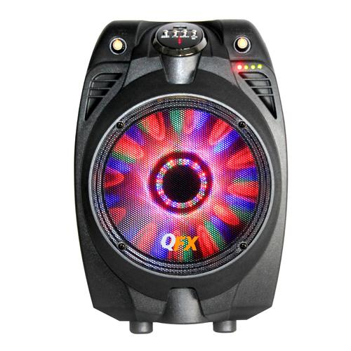 "QFX 6.5"" Battery Powered Bluetooth Party Speaker With FM Radio and USB/TF, Black"