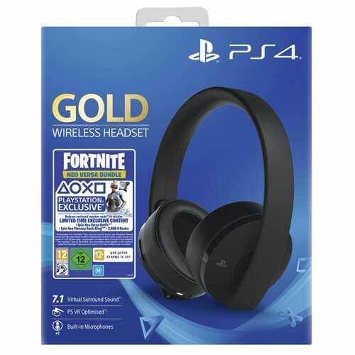 Fortnite Neo Versa Gold Wireless Headset Bundle - Jet Black