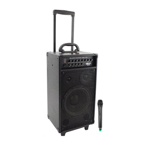 PWMA1080I 800 Watt VHF Wireless Portable PA System/Echo w/iPod Dock