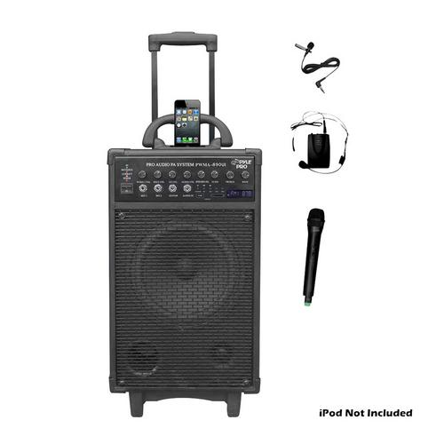 Pyle 500W Dual Channel Wireless Rechargeable Portable PA System With iPod/iPhone Dock