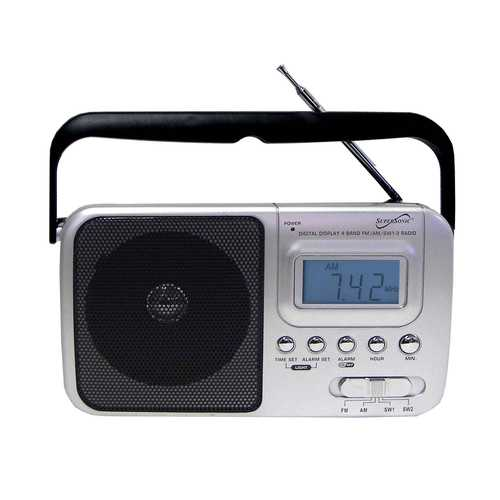 Supersonic Handheld Digital AM/FM Radio with Display